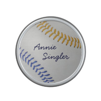 Baseball Fan-tastic_color Laces_go_bl_personalized Bluetooth Speaker