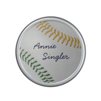 Baseball Fan-tastic_color Laces_go_gr_personalized Bluetooth Speaker