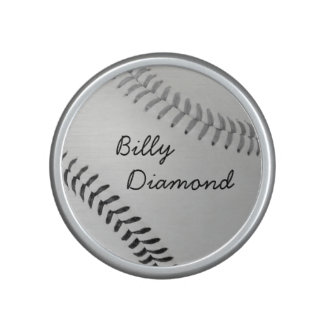 Baseball Fan-tastic_color Laces_gy_bk_personalized Bluetooth Speaker