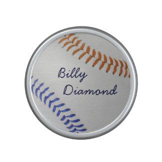 Baseball Fan-tastic_color Laces_og_bk_personalized Bluetooth Speaker