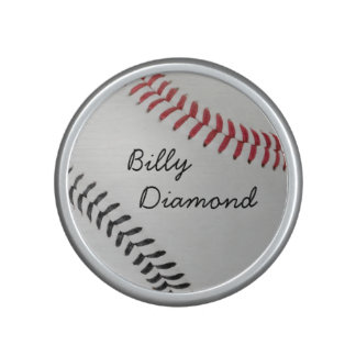 Baseball Fan-tastic_color Laces_rd_bk_personalized Bluetooth Speaker