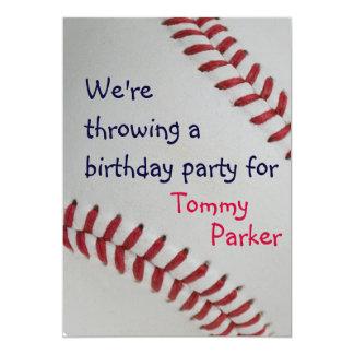 "Baseball Fan-tastic_sports themed birthday party 5"" X 7"" Invitation Card"