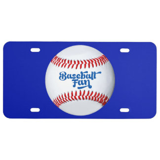 Baseball Fan Theme License Plate