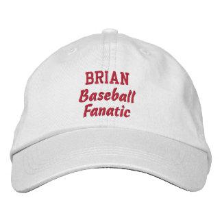 Baseball Fanatic Custom Name Embroidered Hats