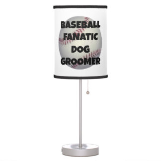 Baseball Fanatic Dog Groomer Table Lamp