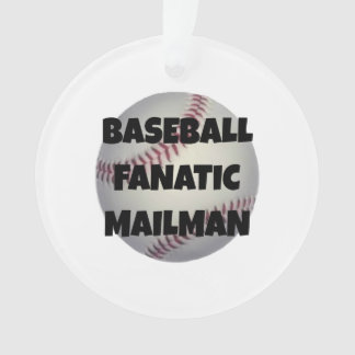 Baseball Fanatic Mailman Ornament
