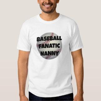 Baseball Fanatic Nanny Tshirt