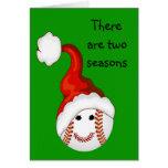 Baseball fans Christmas Card