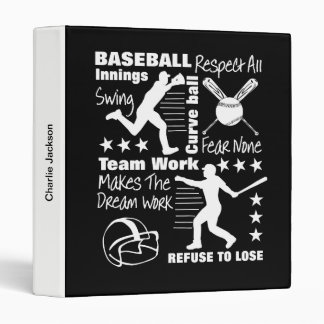 Baseball Fans Quotes And Graphics Sporty Design Vinyl Binder