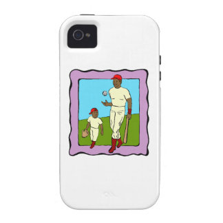 Baseball Father And Son iPhone 4 Covers