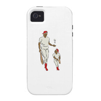 Baseball Father And Son iPhone 4 Case