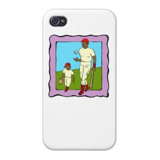 Baseball Father And Son Case For iPhone 4