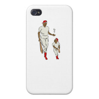 Baseball Father And Son Cover For iPhone 4