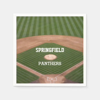 Baseball Field Personalized Disposable Napkins