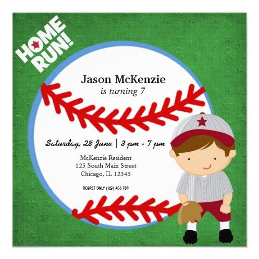 Baseball Fielder Personalized Invite