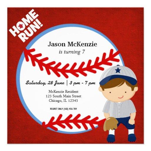 Baseball Fielder Invite