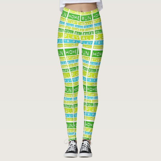 Baseball Game Home Run HandmadeYoga Pants Leggings