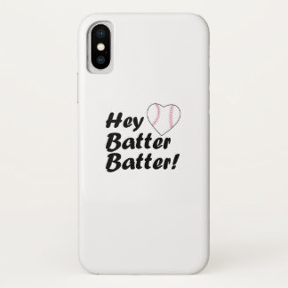 Baseball Gift  Hey batter batter iPhone X Case