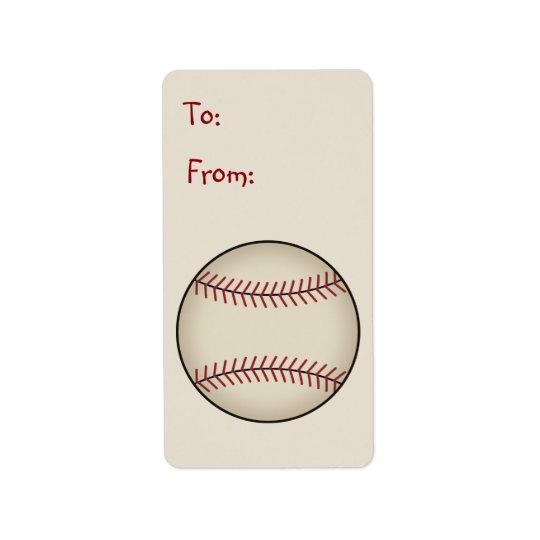 Baseball Gift Tag Label