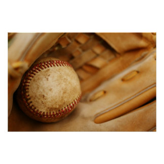 Baseball Glove and Ball Poster