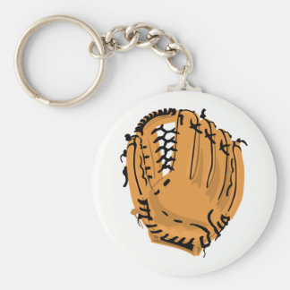 Baseball Glove Basic Round Button Keychain
