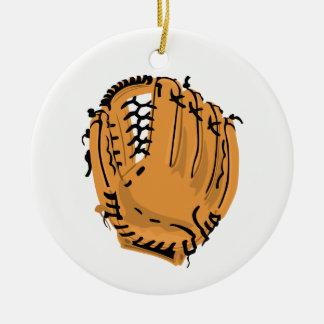Baseball Glove Ceramic Ornament