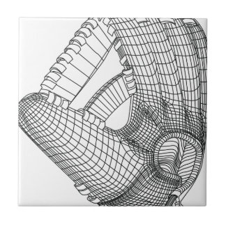 baseball glove ceramic tile