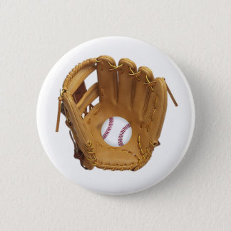 Baseball Glove or Mitt with baseball button