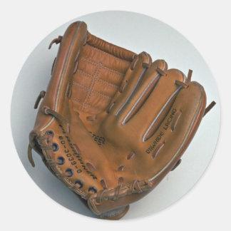 Baseball glove round sticker