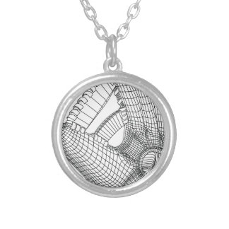 baseball glove silver plated necklace