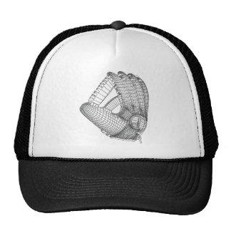 baseball glove trucker hat