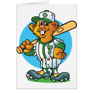 Baseball Gopher Card