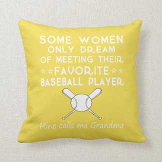 BASEBALL GRANDMA THROW PILLOW
