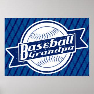 Baseball Grandpa Poster Print