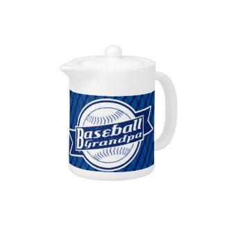 Baseball Grandpa Tea Pot