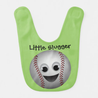 Baseball Graphic Character Smiling Bib