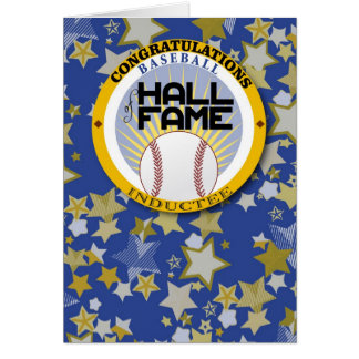 Baseball - Hall of Fame Inductee Congrats Card