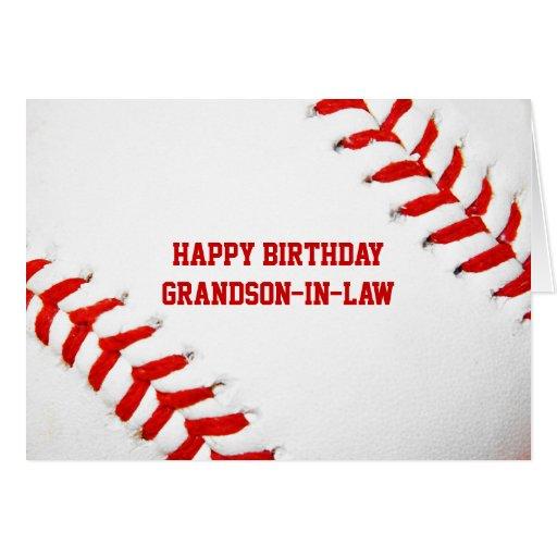 Birthday Ecards Grandson ~ Baseball happy birthday grandson in law card zazzle