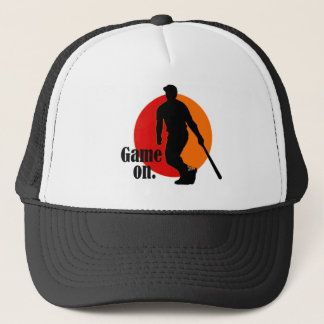 Baseball Hat: Game on. Trucker Hat