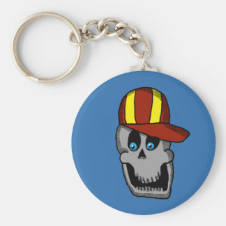 Baseball Hat Skull keychain