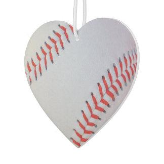 Baseball heart air freshener