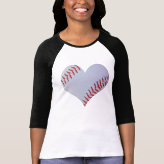 Baseball heart Raglan T-shirt