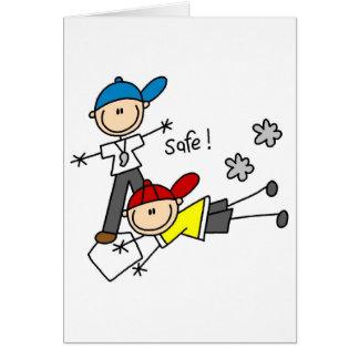 Baseball He's Safe Card