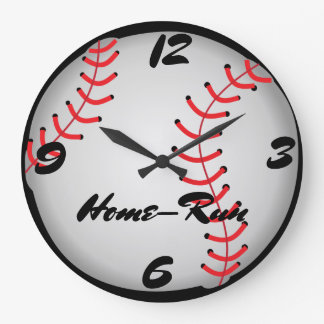 Baseball Home-Run Large Clock