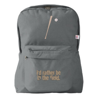 Baseball I'd Rather Be on the Field Backpack