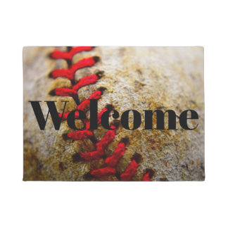 Baseball image welcome doormat
