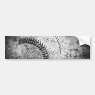 Baseball in Black and White Bumper Sticker