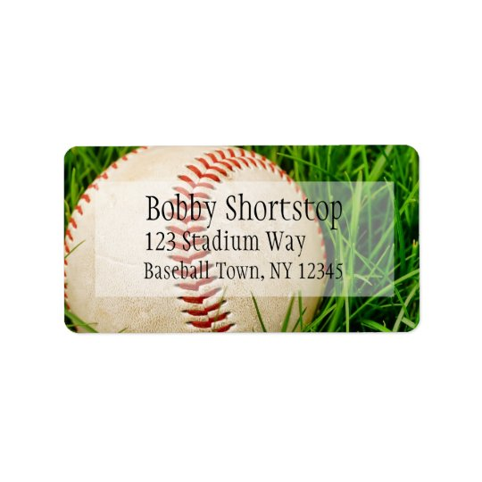 Baseball in the Grass Address Labels