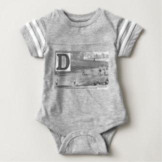 Baseball Initial D Sports Meaning Diamond Baby Bodysuit