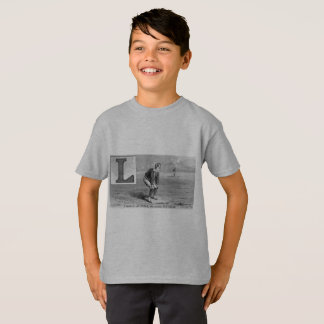 Baseball Initial L Sports Rhyme Vintage Left Field T-Shirt